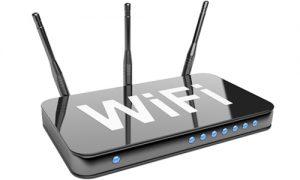 WiFi роутер с тремя антеннами